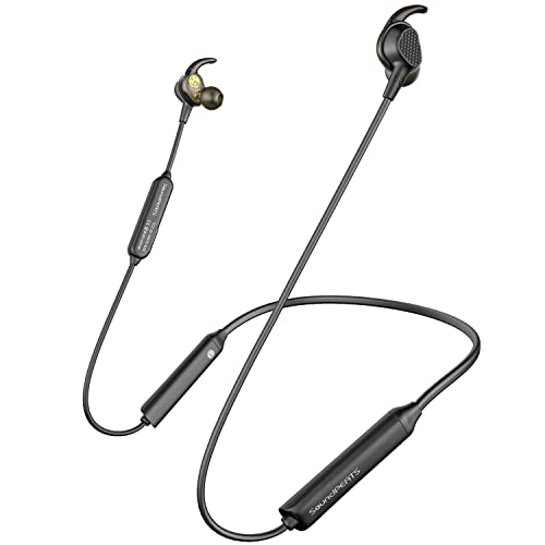 SoundPEATS Engine Bluetooth Wireless Headphone, Neckband in-Ear Earbuds  Dual Dynamic Drivers Earphones with Bluetooth 5 0 Stereo Sound(IPX6
