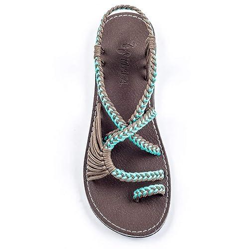 0c7937d4640 Buy Plaka Flat Sandals for Women Palm Leaf with Ubuy New Zealand. B01F27L7DE