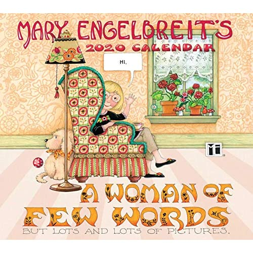 Mary Engelbreit 2020 Deluxe Wall Calendar: A Woman of Few Words Calendar –  Wall Calendar, May 28, 2019