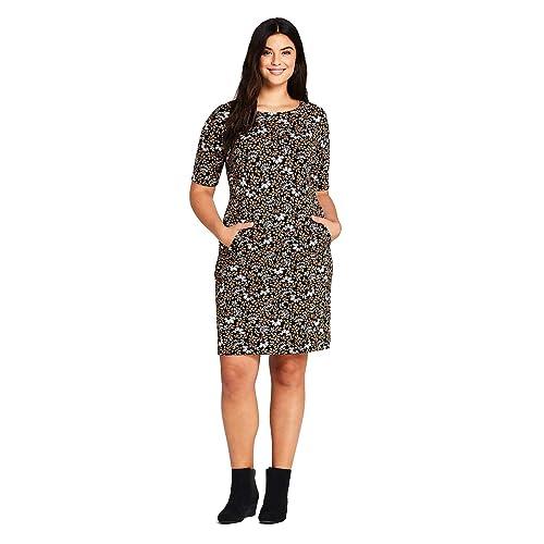 Buy Lands\' End Women\'s Plus Size Ponte Knit Sheath Print ...