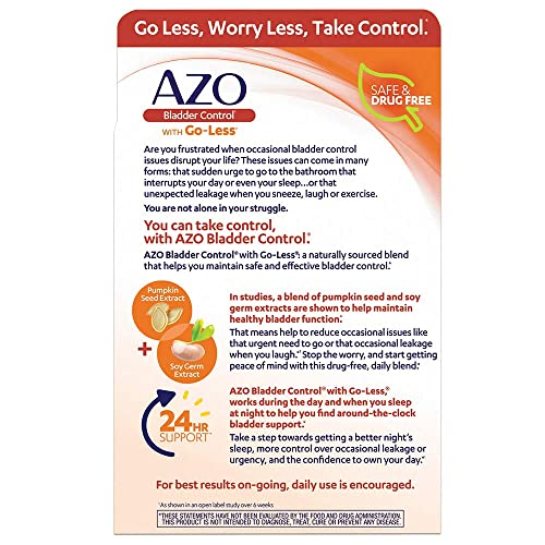 Azo Bladder Control >> Buy Azo Bladder Control With Go Less Daily Supplement