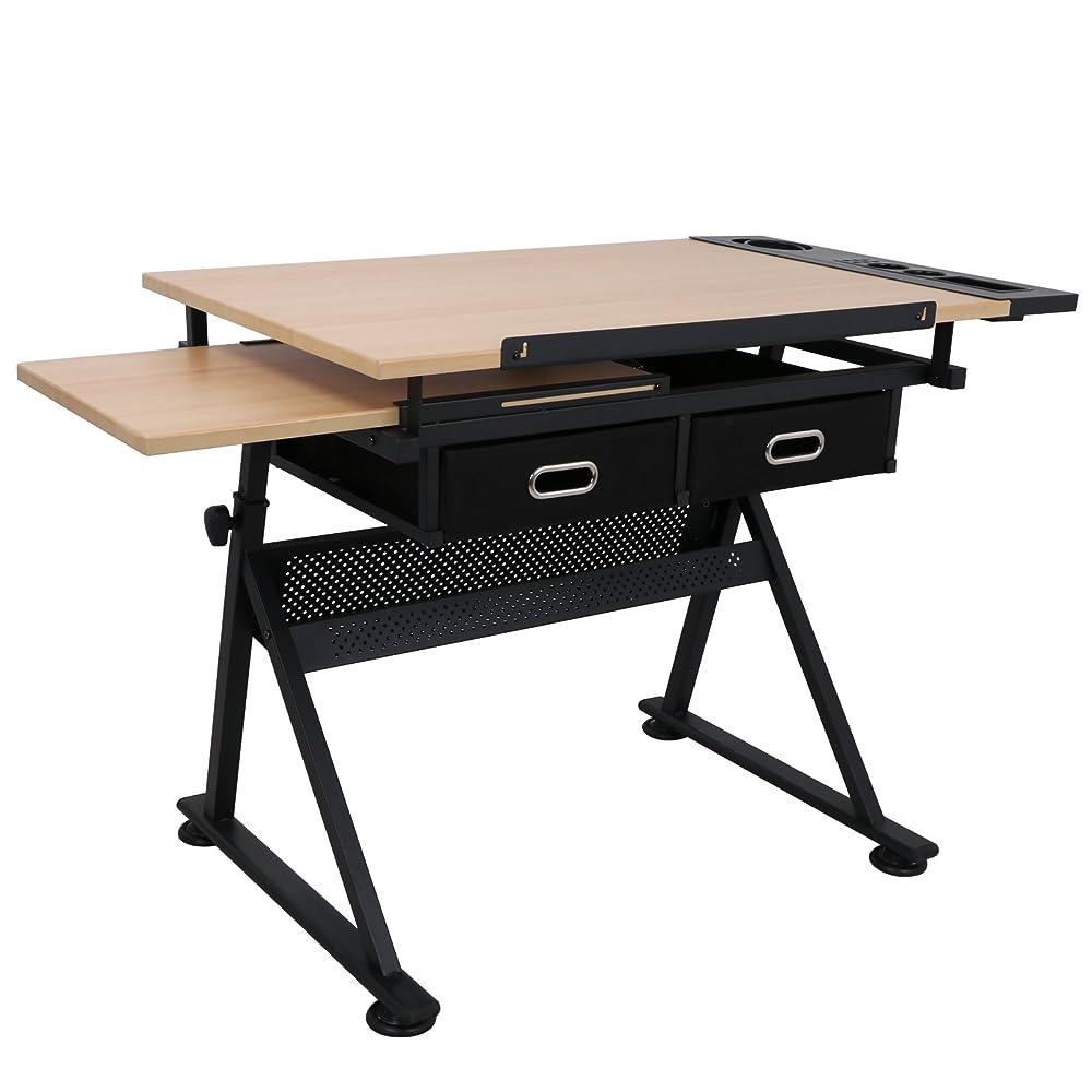 Buy ZENY Height Adjustable Drafting Draft Desk Drawing ...