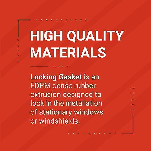 "Fits 1//4"" Glass and 1//8"" P... Trim-Lok EPDM Dense Rubber Window Locking Gasket"