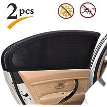 55adb9f2639 Uarter Universal Car Rear Side Window Baby Kid Pet Breathable Sun Shade  Mesh Backseat (2