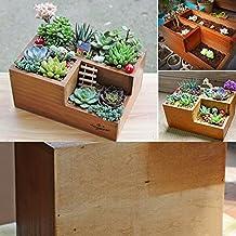 739dda2dc3f Easydeal Wooden Garden Window Box Trough Planter Succulent Flower Bed Pot  (Three gird)