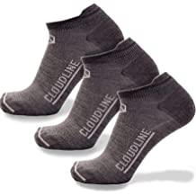 39266164f05dd CloudLine Merino Wool Ultra-Light Athletic Tab Ankle Running Socks - 3 Pack  - for