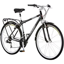 f25353e0859 Schwinn Discover Hybrid Bikes for Men and Women, Featuring Aluminum City  Frame, 21-Speed Drivetrain, Front and Rear Fenders, Rear Cargo Rack, .